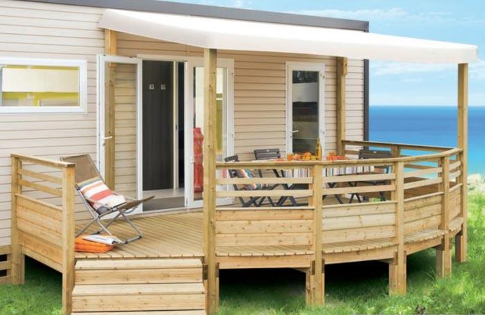 Terrasse Bois Mobilhome - Arvert Mobilhome Mobiland vente et installation de terrasse bois pour votre mobilhome